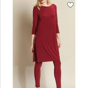 Clara sunwoo burgundy slit sides long tunic/dress